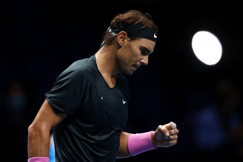 Rafael Nadal at the Nitto ATP Finals