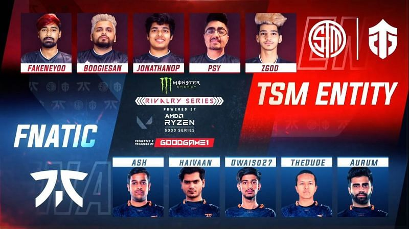 TSM Entity spectacularly won the Valorant Rivalry Series over Fnatic India (Image via - GoodGame1 YouTube)