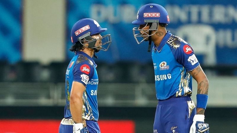 Hardik Pandya and Ishan Kishan smashed 92 runs off the final six overs to bolster MI to a score of 200 in Qualifier 1
