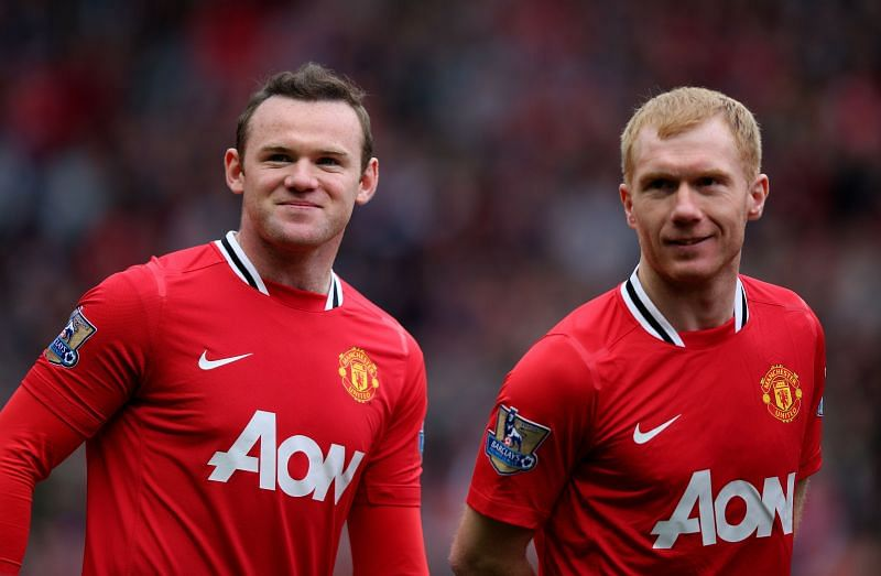 Paul Scholes and Wayne Rooney played together for Manchester United
