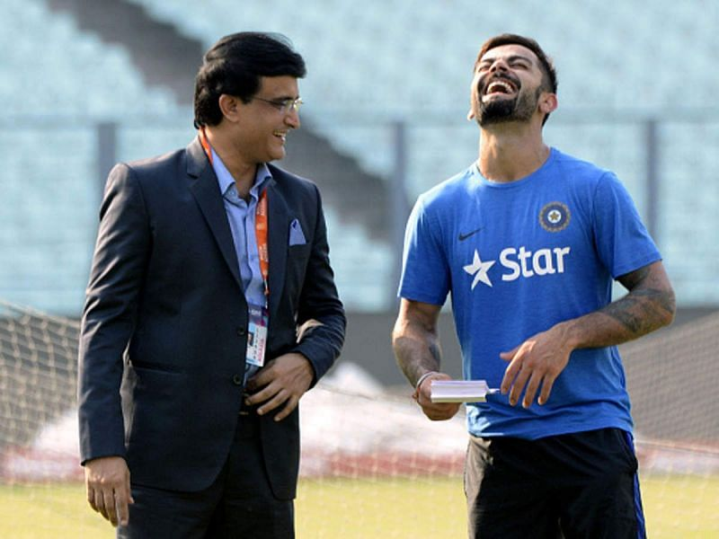 Virat Kohli (R) and Sourav Ganguly (L) have been two of India