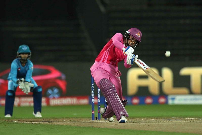 Smriti Mandhana in action for the Trailblazers. Image Credit — IPL