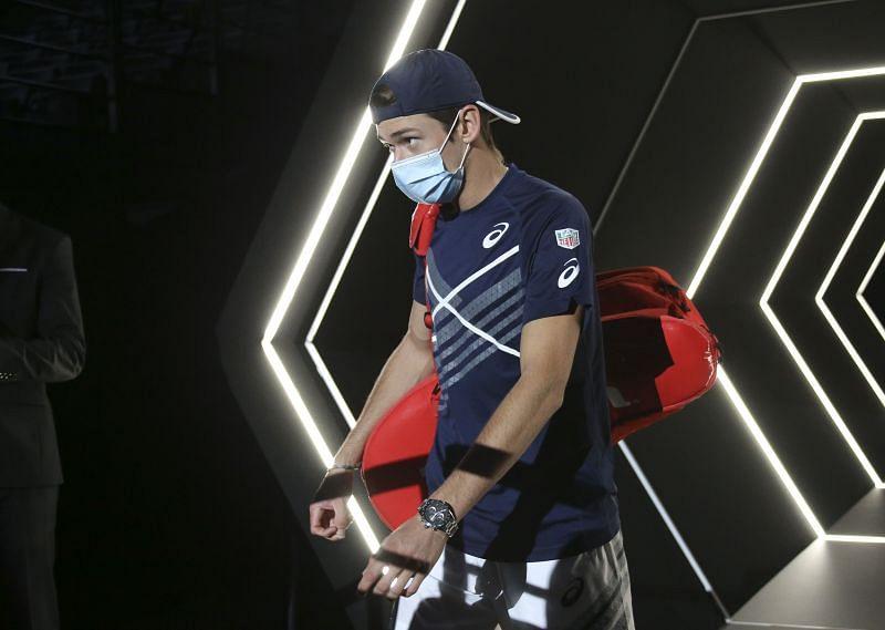 Alex de Minaur at the 2020 Paris Masters