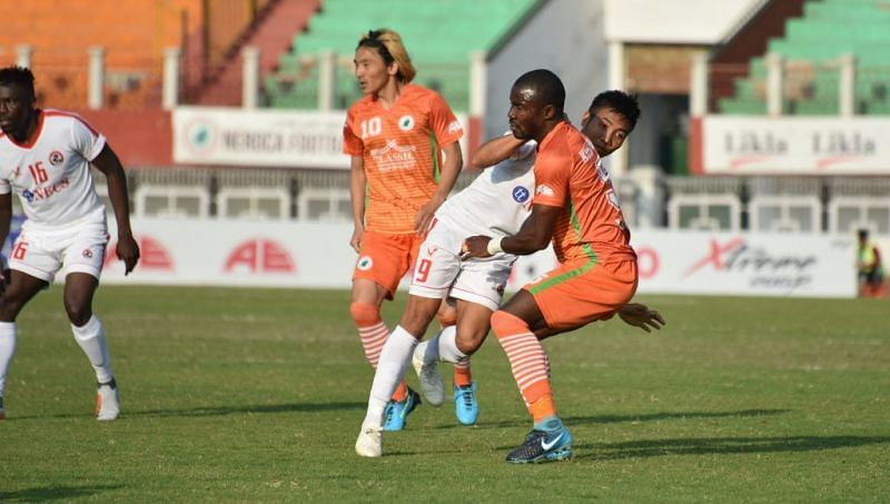 Varney Kallon in action (Image courtesy: i-league.org)