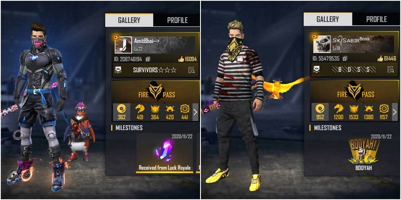 Desi Gamers and SK Sabir Boss are two of the most popular Free Fire content creators in India