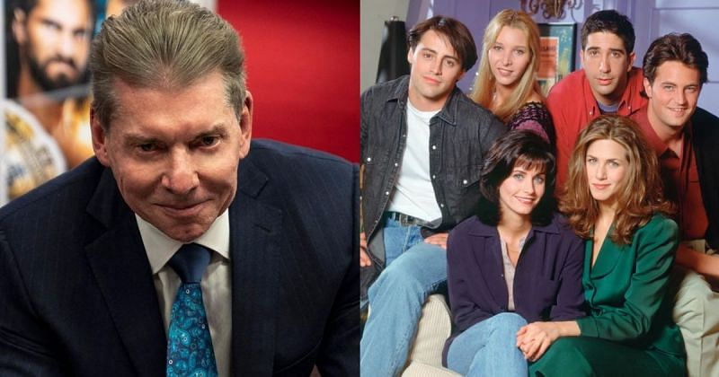 Vince McMahon and the cast of Friends.