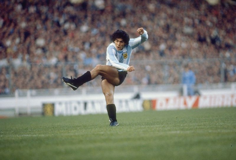Diego Maradona in full glory