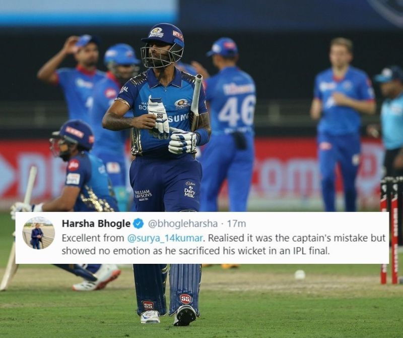 Suryakumar Yadav scored 19 runs off 20 deliveries in the IPL 2020 Final between the Mumbai Indians and the Delhi Capitals