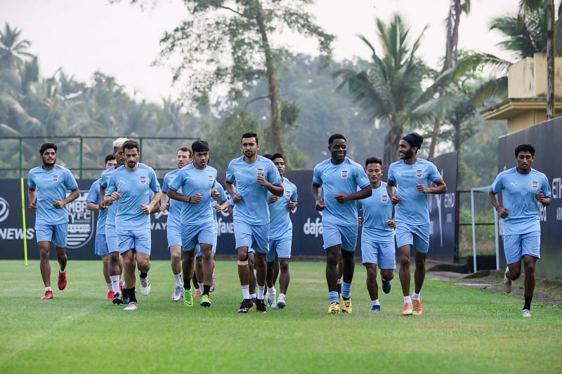 Mumbai City FC in training.