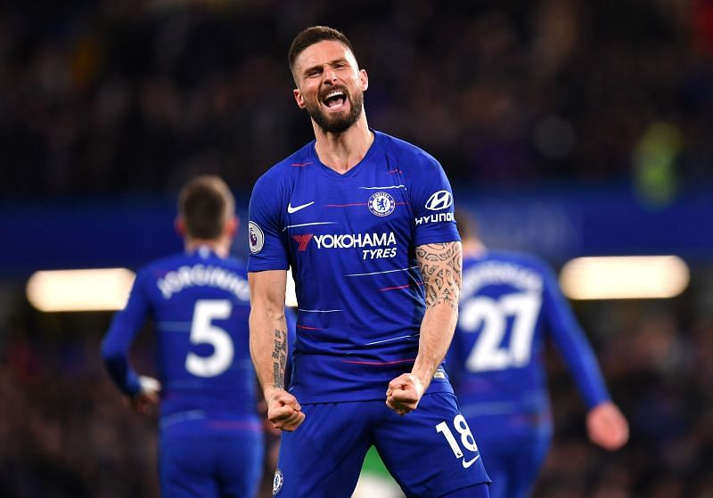 Olivier Giroud has been mainly used as a substitute at Chelsea