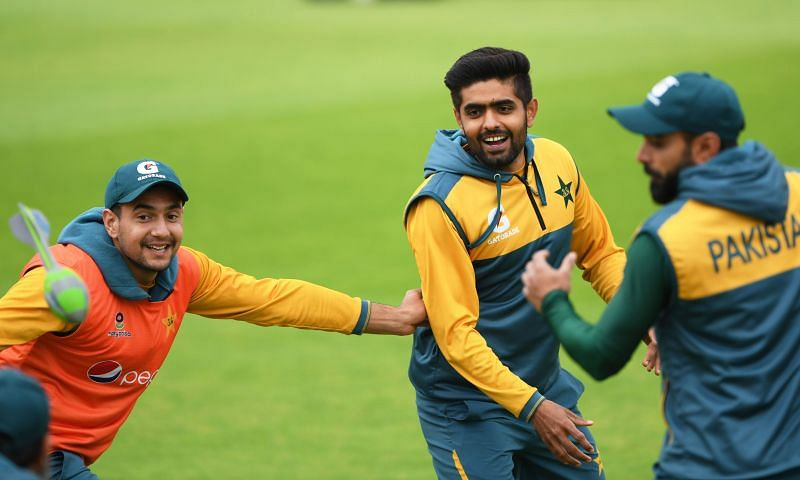 Babar Azam in a net session in England earlier this year.