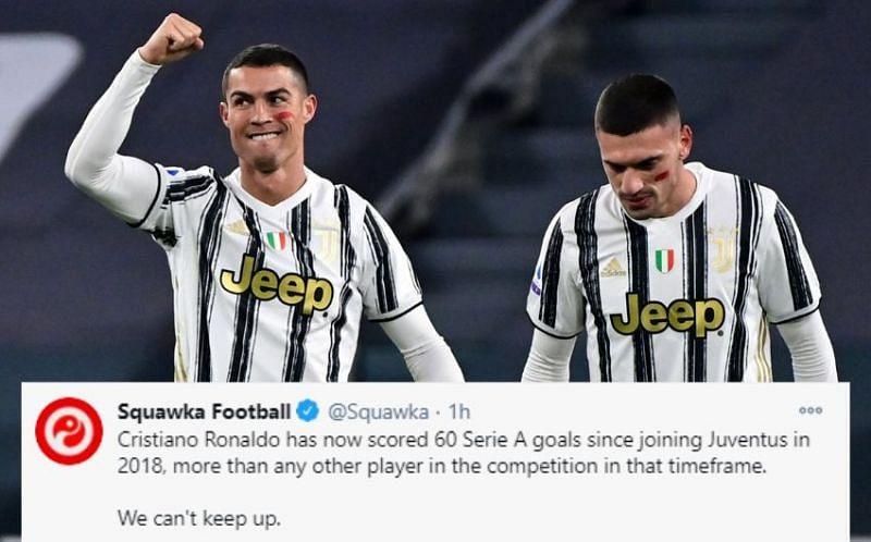 Twitter Explodes As Cristiano Ronaldo S Brace Helps Juventus Beat Cagliari 2 0