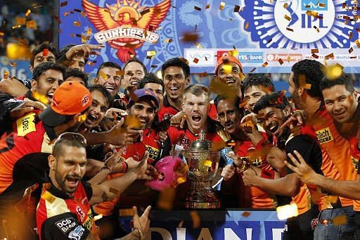 SRH became IPL champions for the first time in 2016