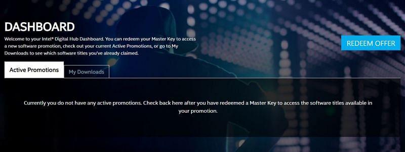 Redeem Offer (Image via Screengrab Intel Bundle Account)