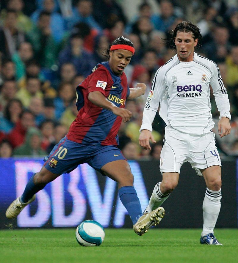 Sergio Ramos faced Ronaldinho early in his career