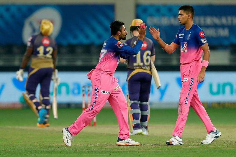Kartik Tyagi was the standout performer among the Indian quicks for Rajasthan Royals [P/C: iplt20.com]