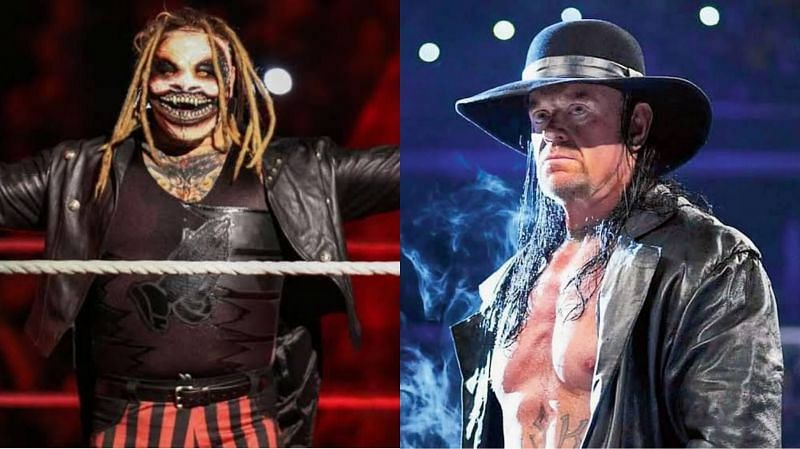 """The Fiend"" Bray Wyatt (left) and The Undertaker (right)"