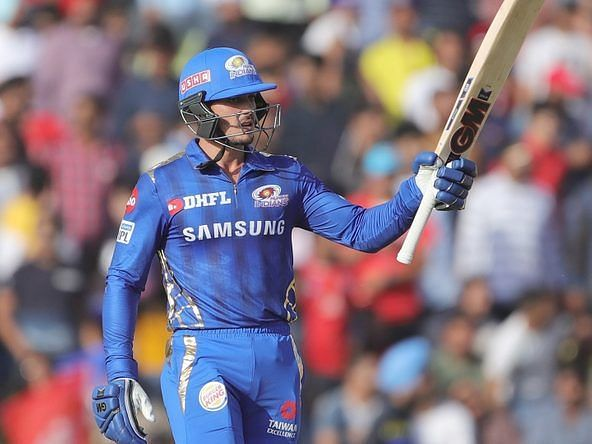 De Kock has been consistent for MI at the top of the order in IPL 2020