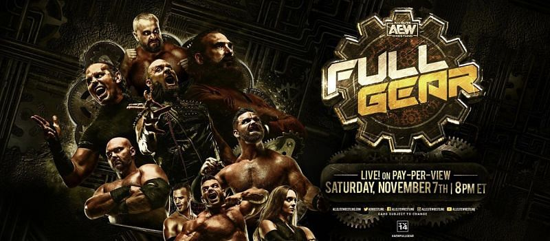 AEW Full Gear is this Saturday live on pay-per-view
