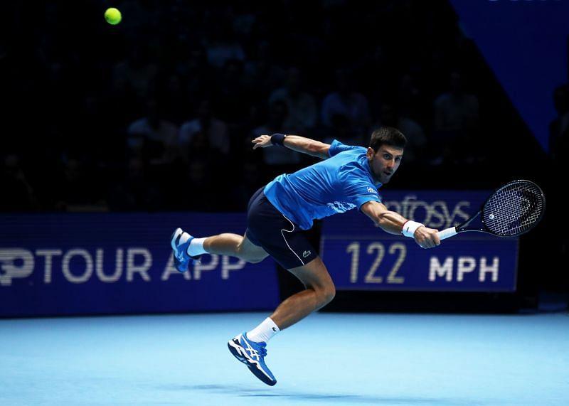 Novak Djokovic at the 2019 Nitto ATP Finals