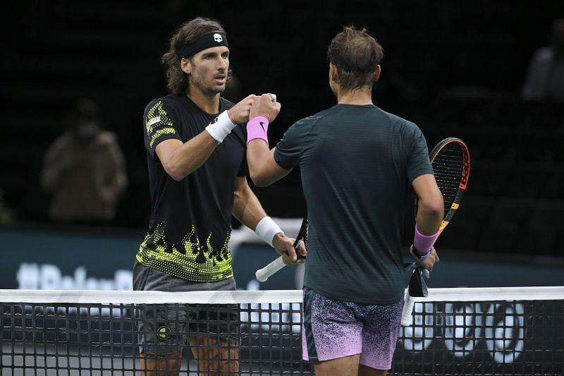 Feliciano Lopez (L) and Rafael Nadal