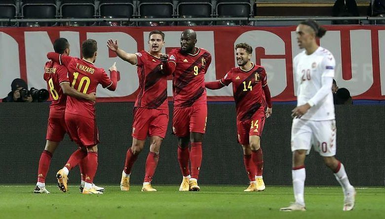 Belgium thumped Denmark to reach the semi-finals of the 2020-21 UEFA Nations League.