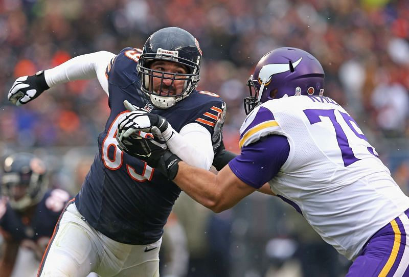 Jared Allen (left) with the Chicago Bears