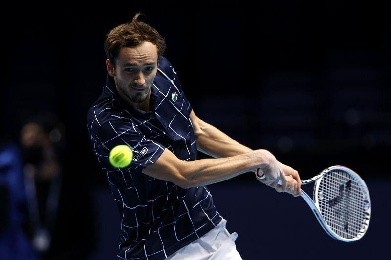 Daniil Medvedev at the Nitto ATP Finals