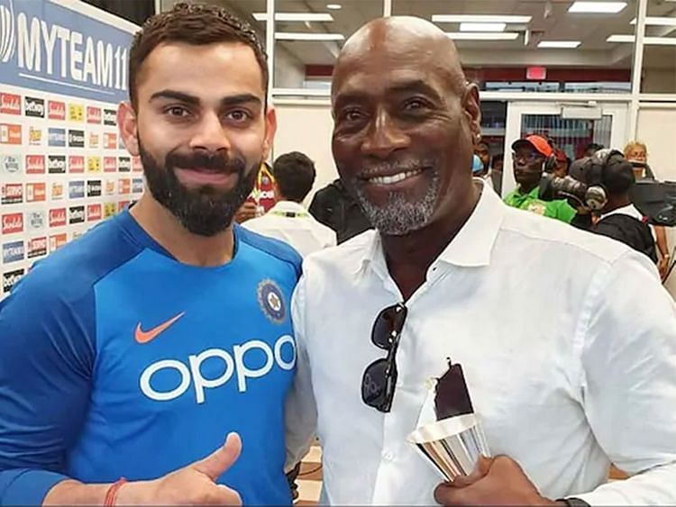 Virat Kohli (L) has 177 fifty-plus scores in international cricket as compared to Sir Viv Richards