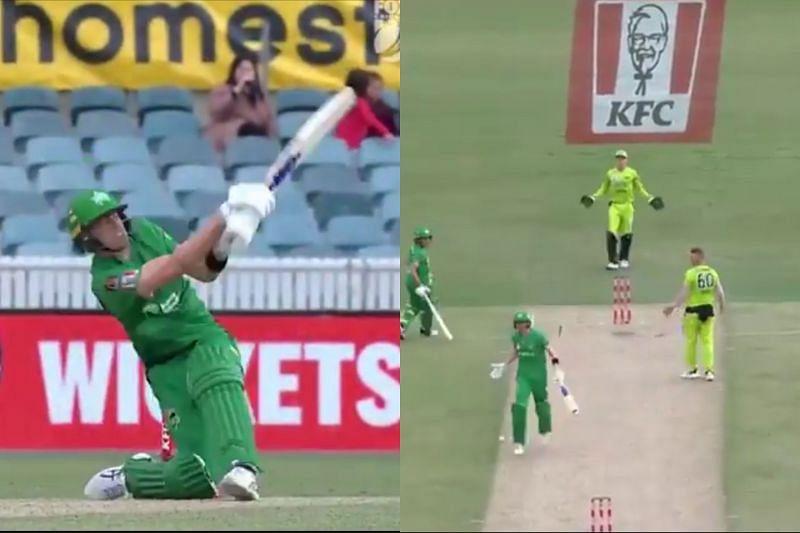 The officials called it a dead ball after the batsmen took a single.