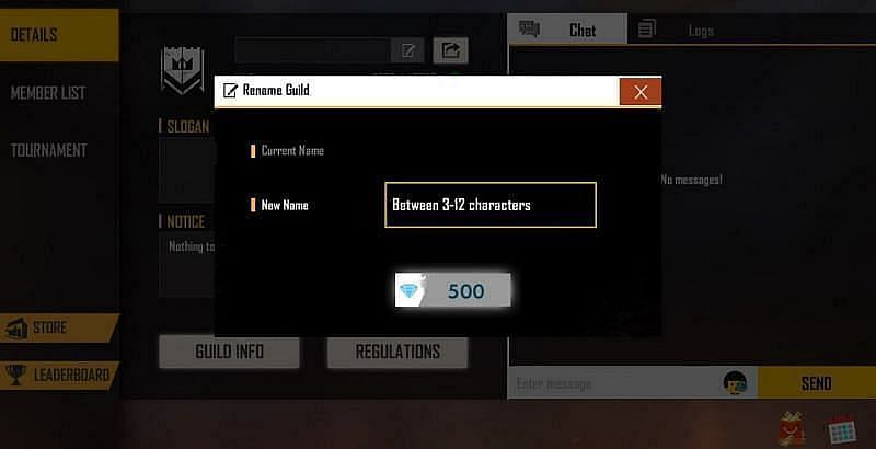 How to change the name of a guild in Free Fire