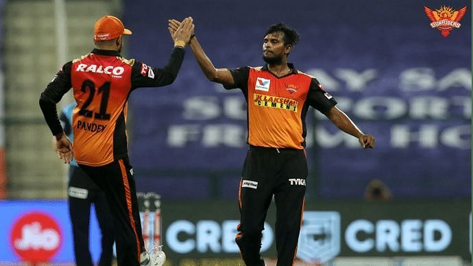 T Natarajan was an integral part of the SRH bowling attack in IPL 2020