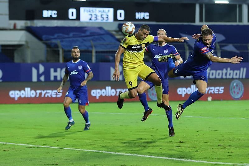 Aridane Santana is the target man in the Hyderabad FC attack (Courtesy - ISL)