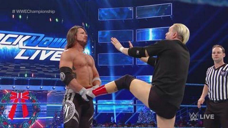 जेम्स एल्सवर्थ WWE में एजे स्टाइल्स को कई मौकों पर हरा चुके हैं