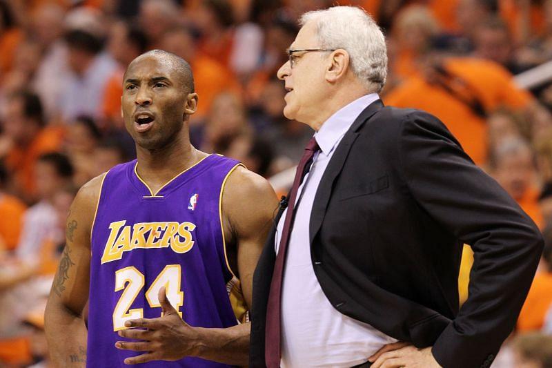 Phil Jackson and Kobe Bryant
