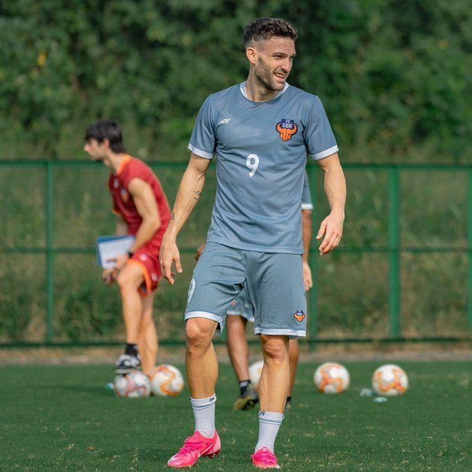 Jorge Ortiz during training (Courtesy-FC Goa/Twitter)