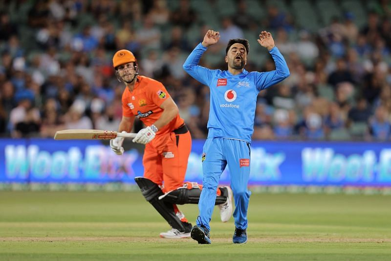 Action from the Strikers v Scorchers match at the BBL 2020-