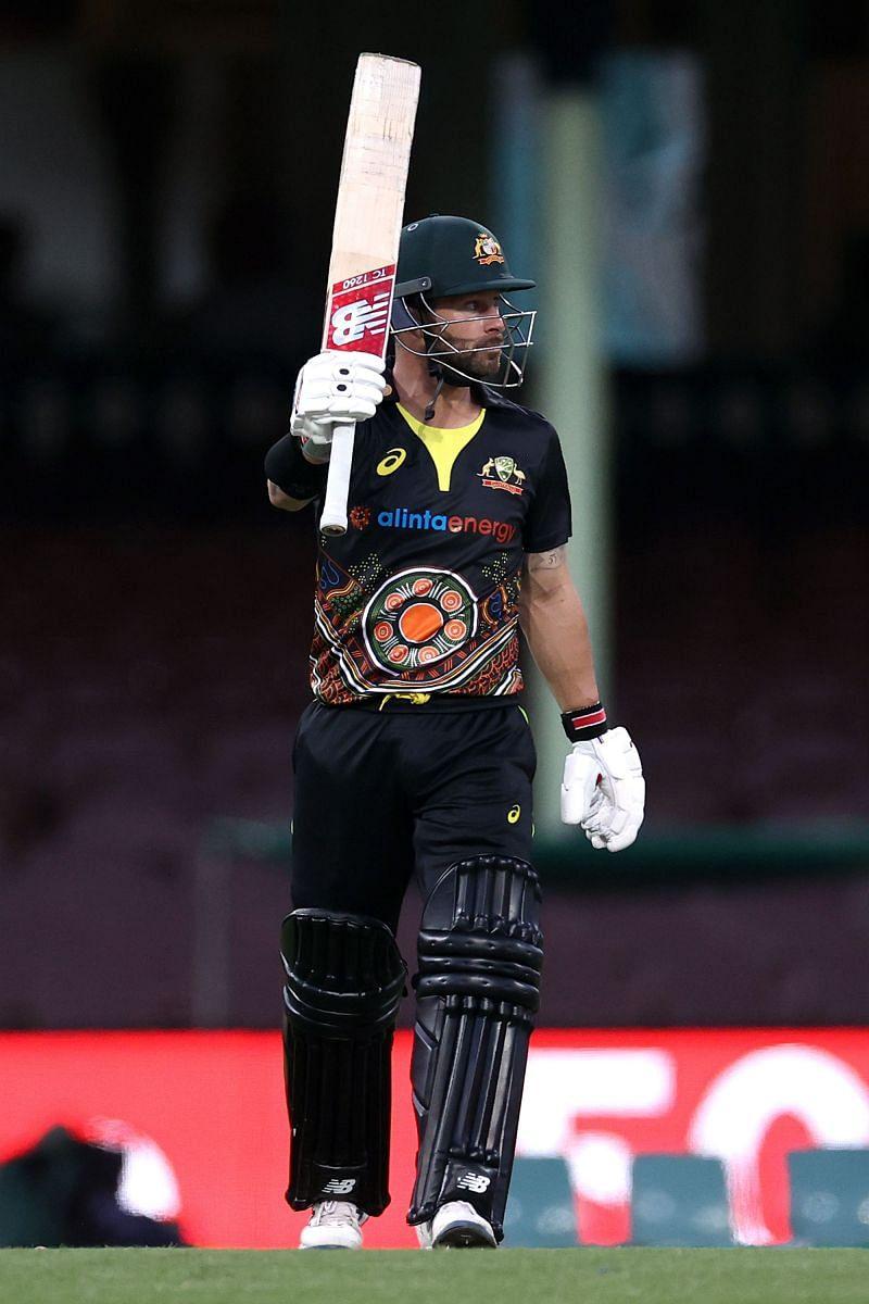 Matthew Wade in action for Australia.