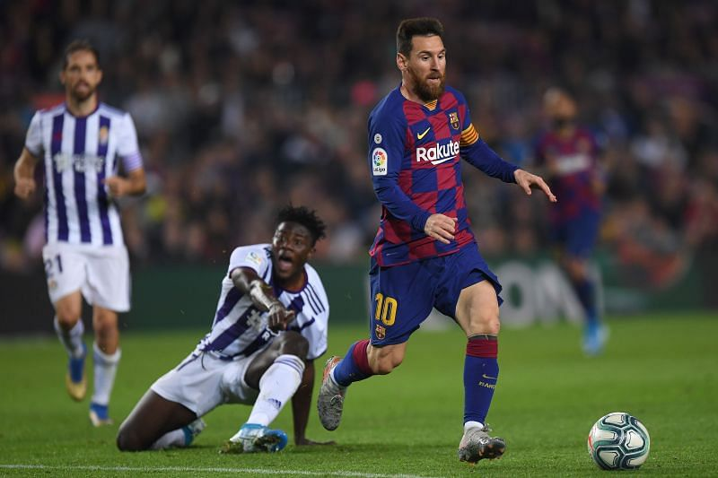 Barcelona take on Real Valladolid this week
