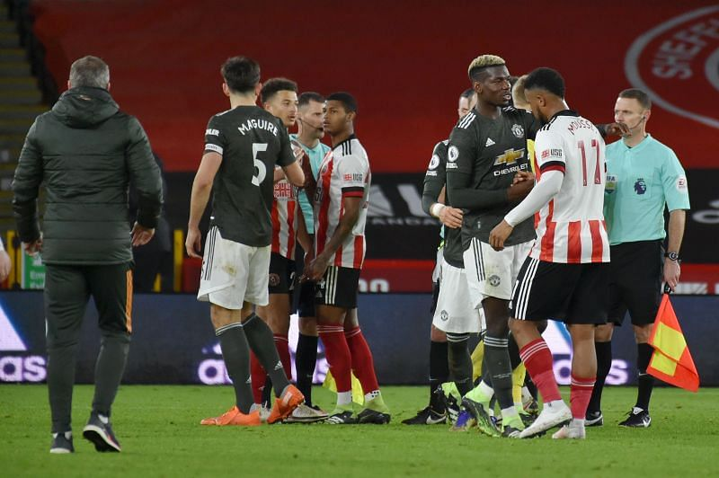Manchester United eked out a 3-2 win over Sheffield United at Bramall Lane.