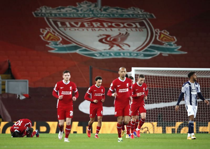 Liverpool drew 1-1 against West Bromwich Albion in the Premier League on Sunday