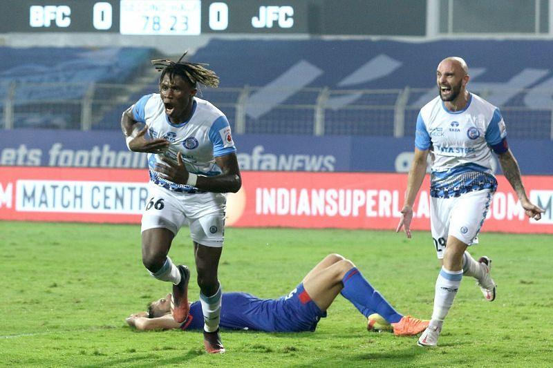 Stephen Eze scored his third ISL goal for Jamshedpur FC this season (Image Courtesy: ISL Media)