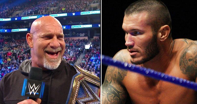 Goldberg and Randy Orton