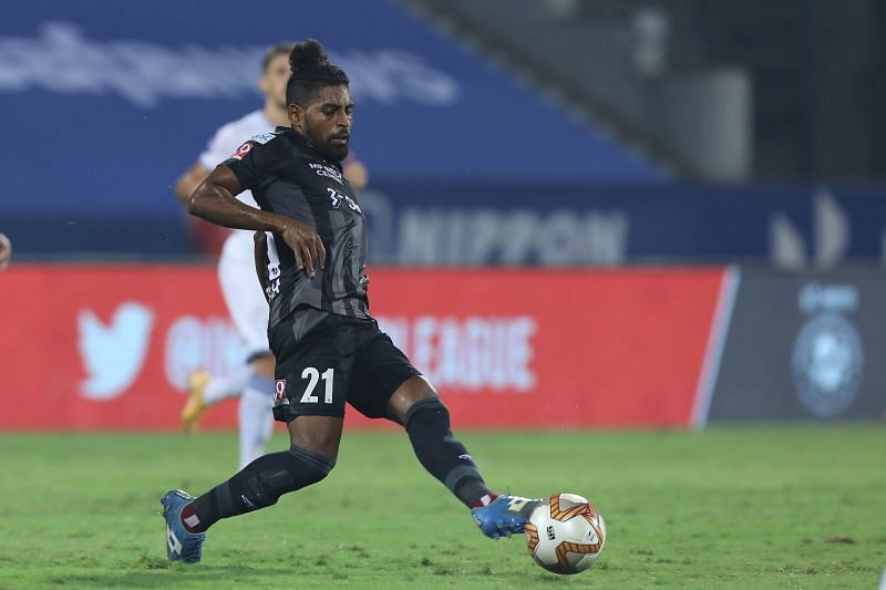 Roy Krishna rarely had the ball in his feet against Chennaiyin FC (Image Courtesy: ISL Media)