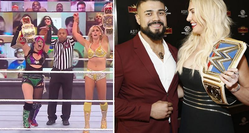 Andrade reacts to Charlotte Flair