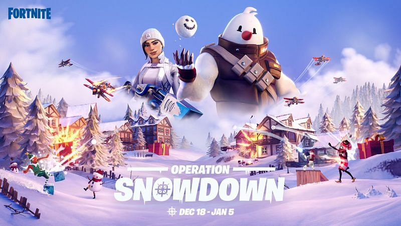 A quest in Operation Snowdown requires players to catch a Snowy Flopper in Fortnite (Image via Epic Games)
