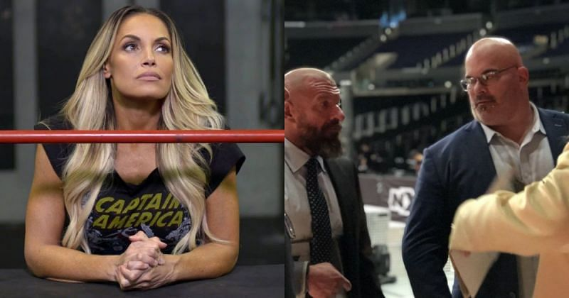Trish Stratus, Triple H, and Matt Bloom.