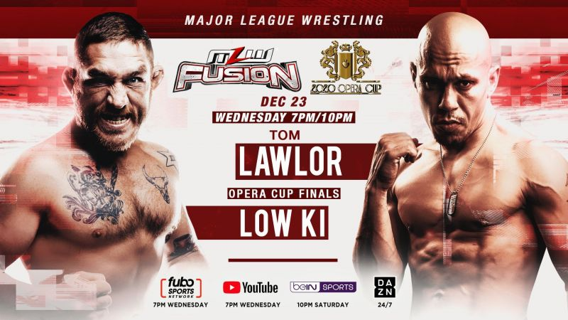 """The Opera Cup Finals are tonight! """"Filthy"""" Tom Lawlor takes on Low Ki"""