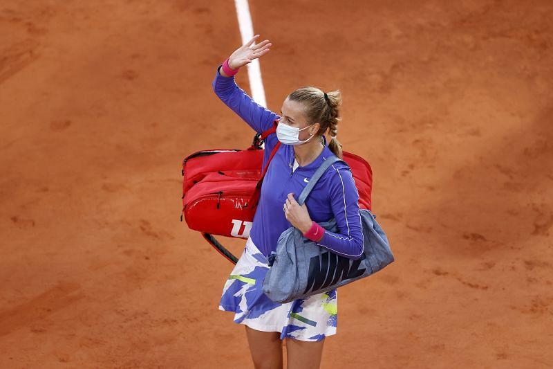 Petra Kvitova at Roland Garros 2020