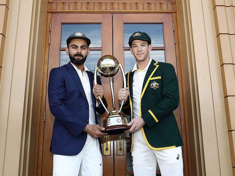 भारतीय कप्तान विराट कोहली और ऑस्ट्रेलियाई कप्तान टिम पेन